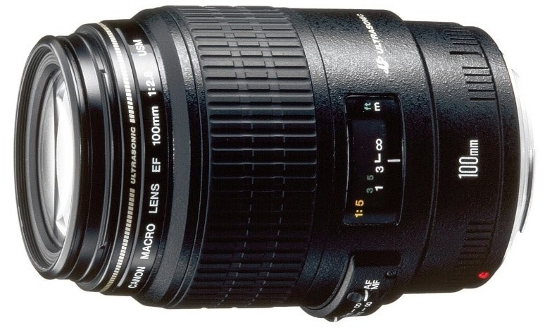 Canon EF 100mm f / 2.8 USM Macro lens