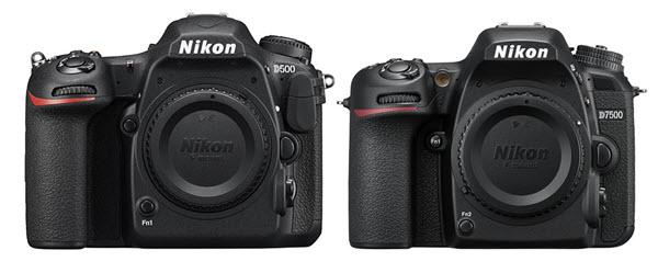 Nikon D7500 vs. Nikon D500