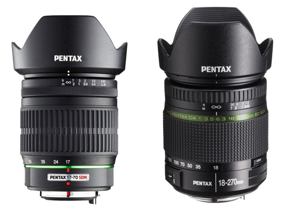 Pentax 17-70mm f/4 AL IF SDM and Pentax 18-270mm f/3.5-6.3 DA SDM
