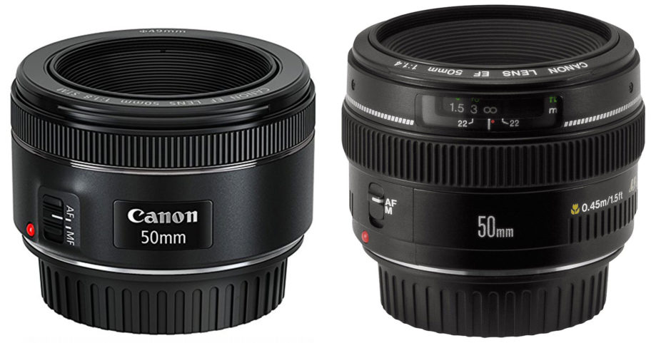 Canon 50mm f/1.8 STM and f/1.4